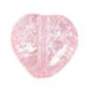 Glass Bead Cracked 8mm Heart Light Pink Dyed - Strung